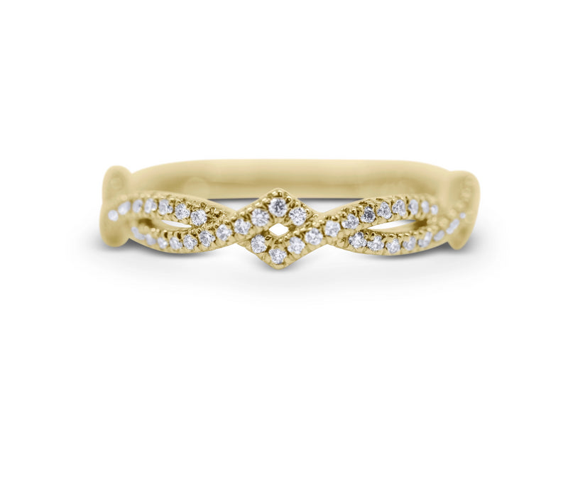 Diamond Stack Ring - Twist