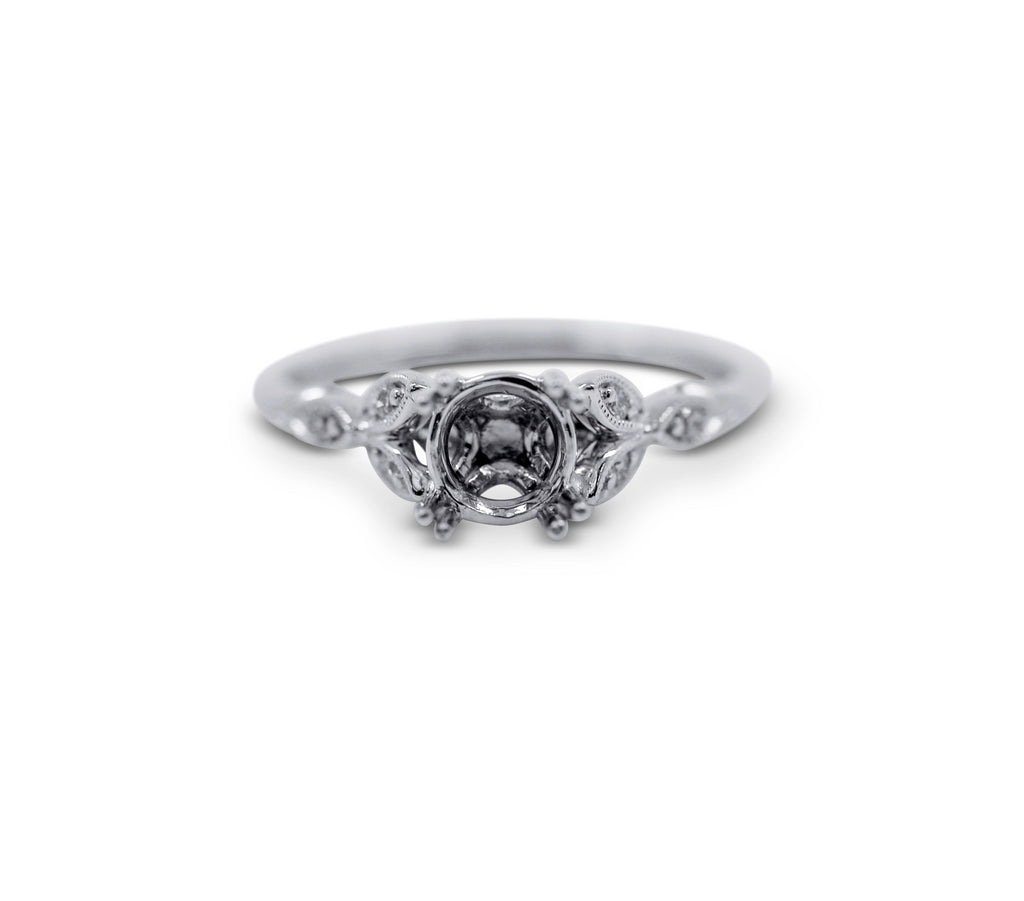 Floral Engagement Ring Setting - Sydney Rosen