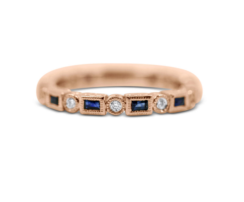 Diamond Stack Ring - Sapphire and Diamond