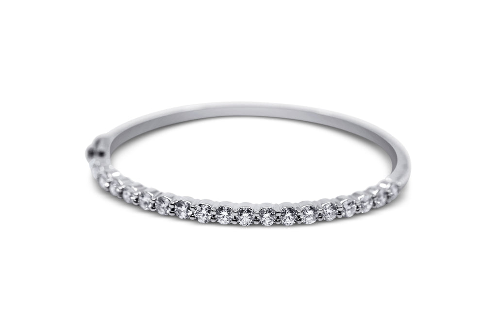 Diamond Bangle Bracelet - Sydney Rosen