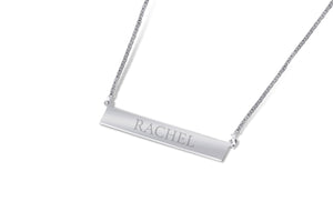 "Sterling Silver ""Bar"" Necklace"