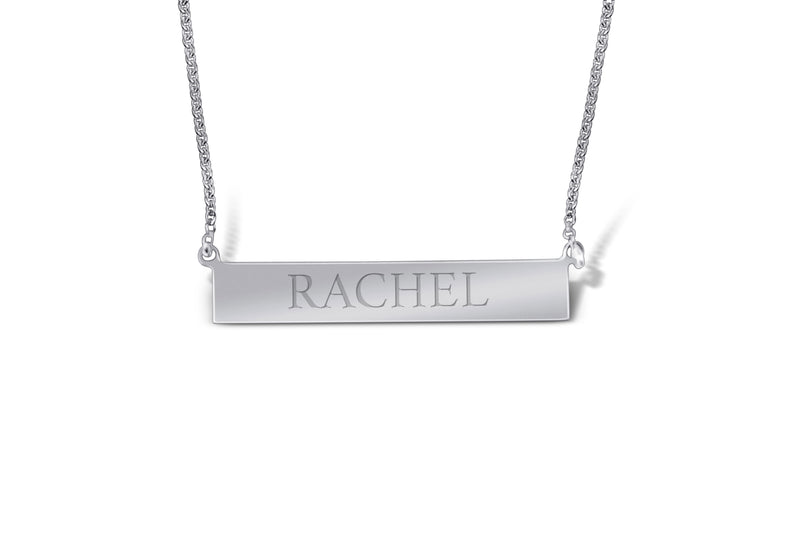 "Sterling Silver ""Bar"" Necklace - Sydney Rosen"