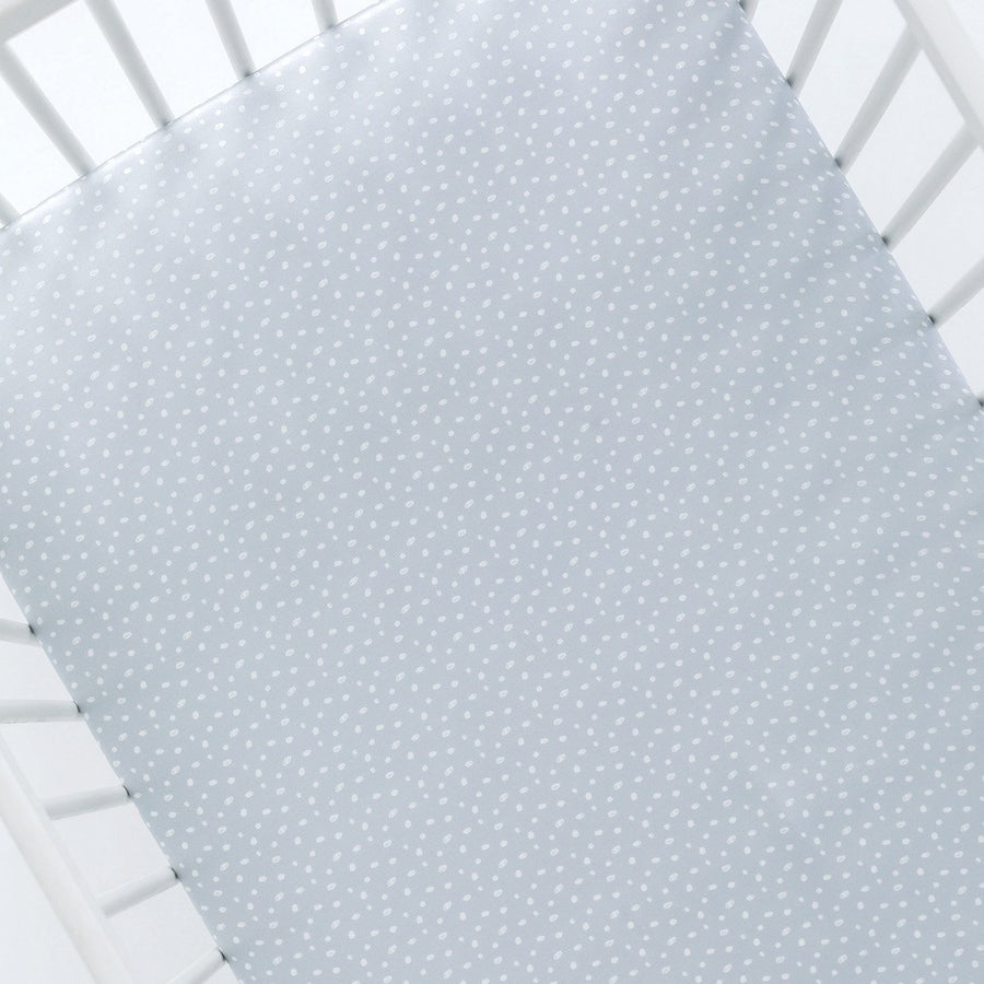 Silk Cot Sheet - Grey Sprinkles