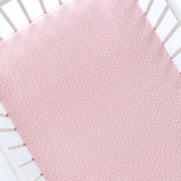 Silk Cot Sheet - Pink Sprinkles