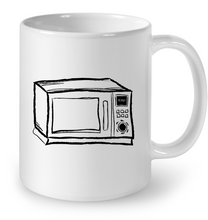 Load image into Gallery viewer, Microwave Sketch Black On White