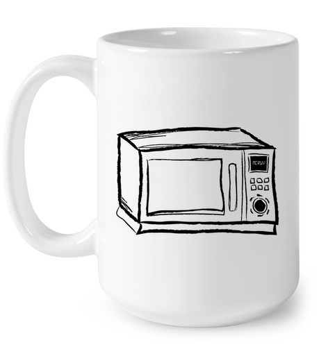 Microwave Sketch Black On White