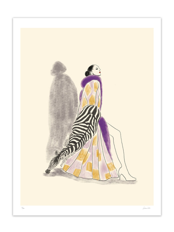 Lady and zebra