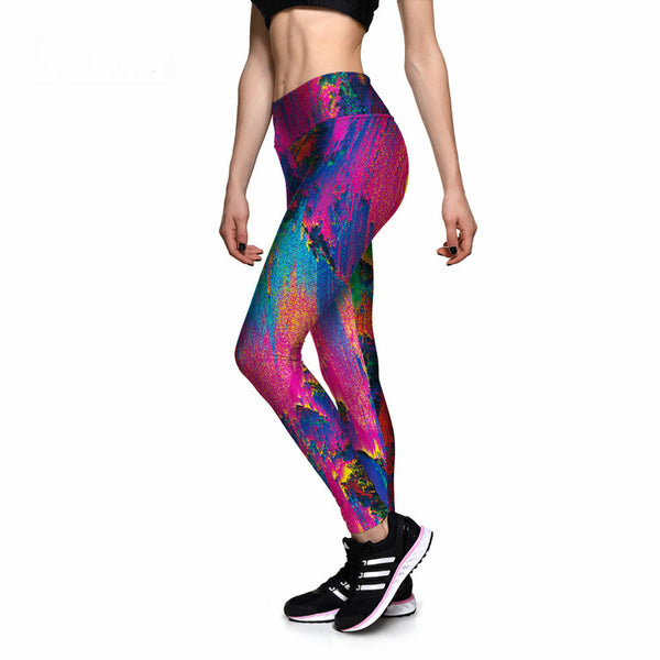 3D Colored Leggings