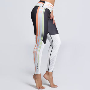 Side Stripe Print Leggings