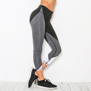 Black Grey Capri Leggings