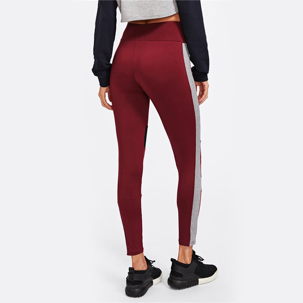 Red Grey Leggings