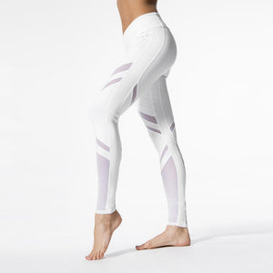 White Patterned Sporting Leggings