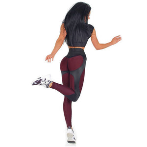 The Burgundy Leggings