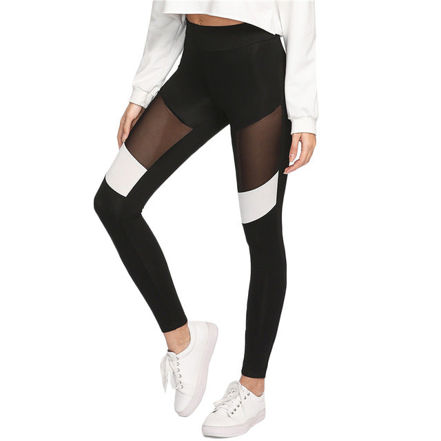 White Mesh Leggings