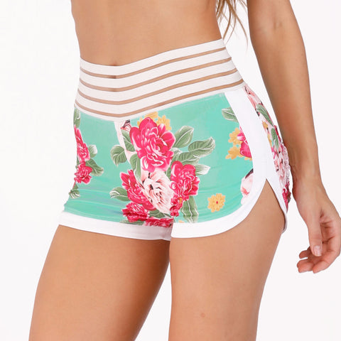 Floral Pocket Sport Shorts