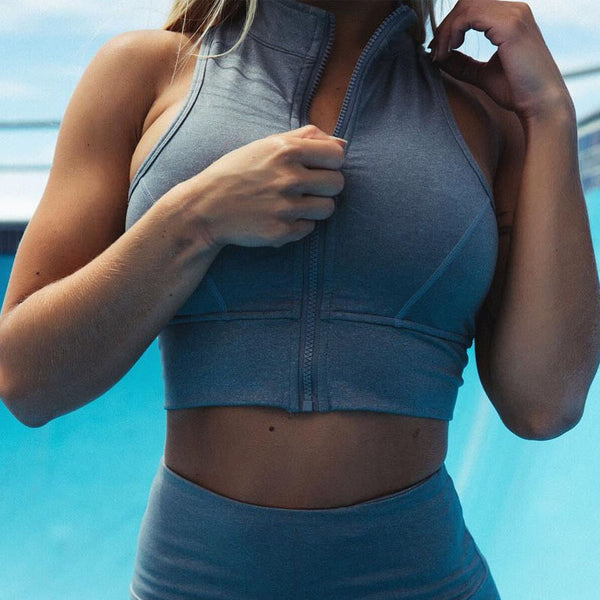 Zipper Sports Crop Top