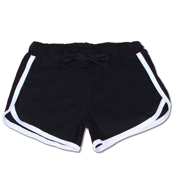 Black Draw-String Shorts