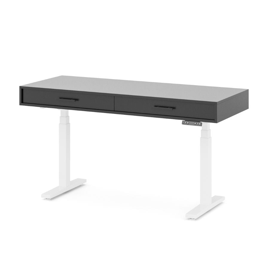 Cloud Model -- Electric Adjustable-Height Desk with Drawers - Baru