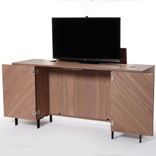 Desk-Console and Retractable TV Media Center - Baru