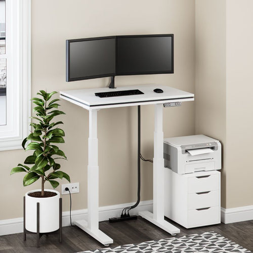 Strata Model -- Electric Adjustable-Height Desk - Baru