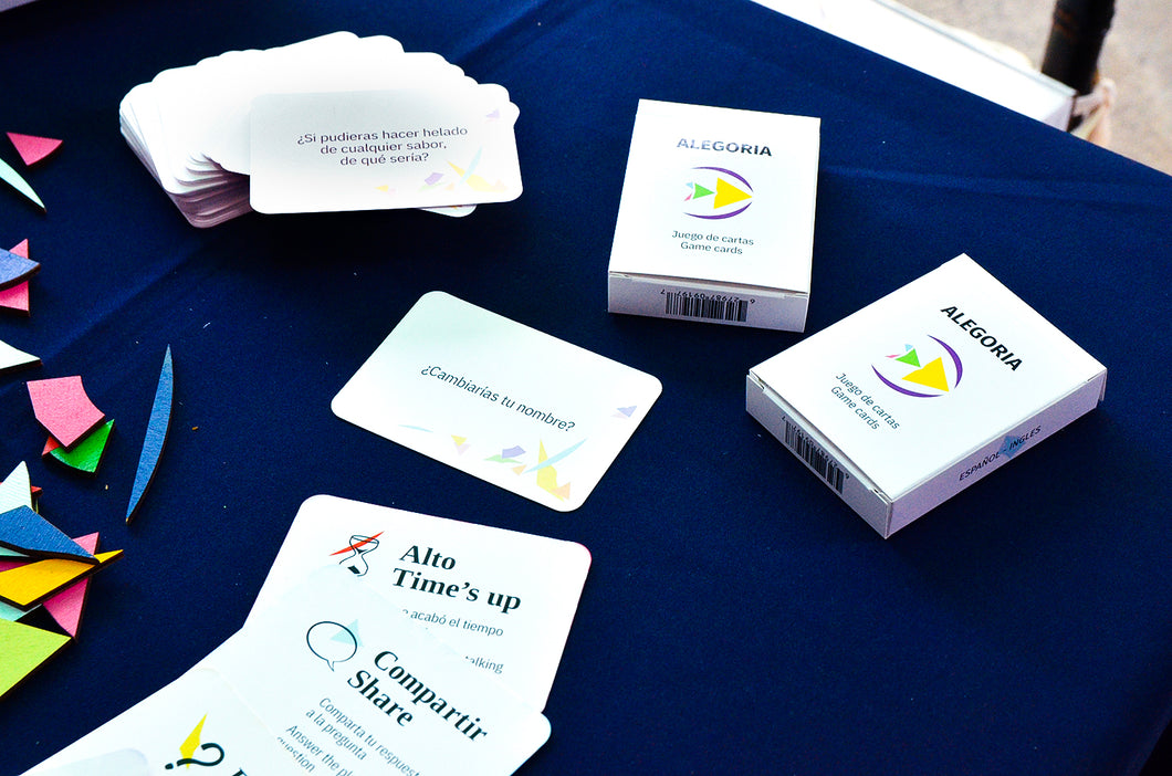 Alegoria Question Cards English-Spanish