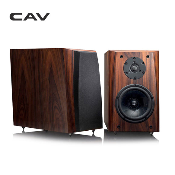 CAV FL-30 High End Bookshelf Speaker Full Handmade Wood Veneer High Fidelity HI-FI Speaker Professional Wooden HIFI Speakers