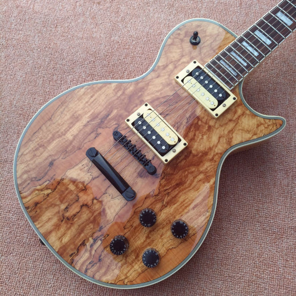 Wholesale - Custom Shop Wooden Solid rotten tree wood Electric Guitar Top Musical instruments HOT