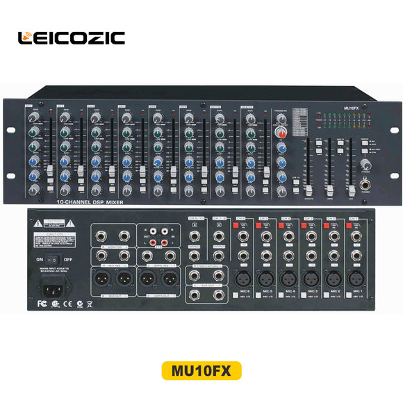 Leicozic Professional sound Audio Mixer MU10FX Professional sound system rack mount mixing desk pro audio musical instruments