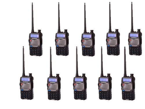 10 PCS Baofeng UV-5RA+ PLUS For Police WalkieTalkie Scanner Radio Dual Band Cb Ham Radio Transceiver UHF 400-470/VHF136-174MHz