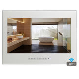"Souria 19"" Magic Smart Android Mirror ip66 Bathroom TV USB LED Waterproof TV with TV Mounts Hotel Sauna Room"