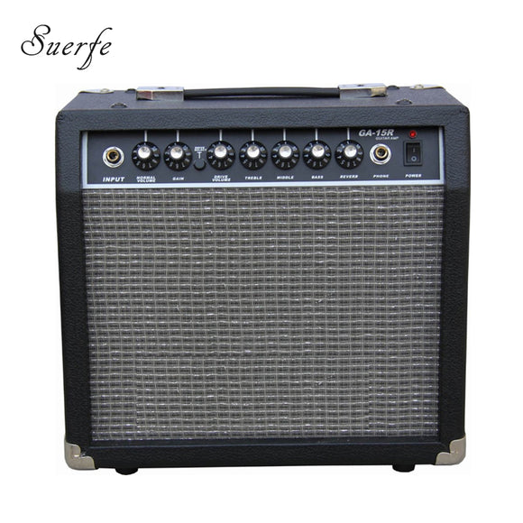 SUERTE 15 Watt Transistor Guitar Amplifier Headphone 6.5