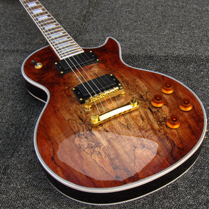 Spalted Maple Vintage 59 Tabacco burst Nashville Bridge Mahogany Solid China Musical Instrument Electric Guitars Free shipping