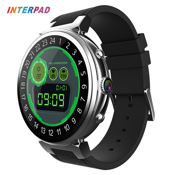 2017 Interpad 2GB RAM 16 GB ROM Smart Watch Android 5.1 OS MTK6580 Quad Core 1.3GHz Smartwatch Support 3G SIM GPS WIFI Camera