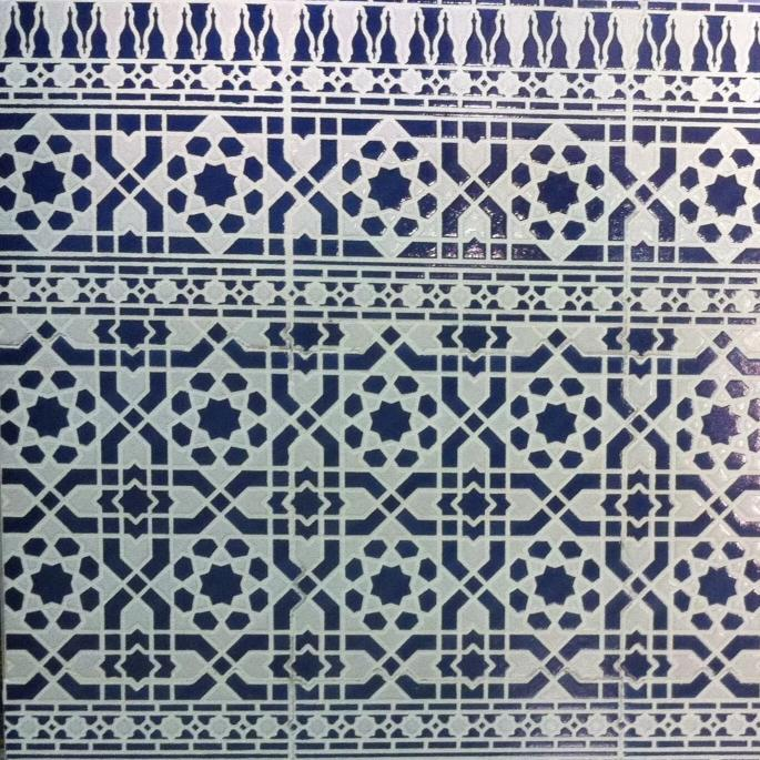 Moroccan blue tile for your kitchen project