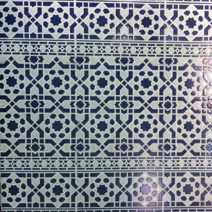 Moroccan blue tile for bathroom wall