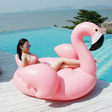 Load image into Gallery viewer, Rose Gold Inflatable Flamingo pool Float