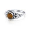 Cabochon Tigers Eye Ring - Vamoon Jewellery