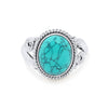 Turquoise Silver Ring - Vamoon Jewellery