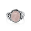 Hyalos Cabochon Rose Quartz Ring