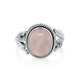 Hyalos Cabochon Rose Quartz Ring - Vamoon Jewellery