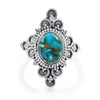 Cabochon Blue Copper Turquoise Ring - Vamoon Jewellery