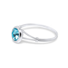 Aurelia Solitaire Sterling Silver Ring