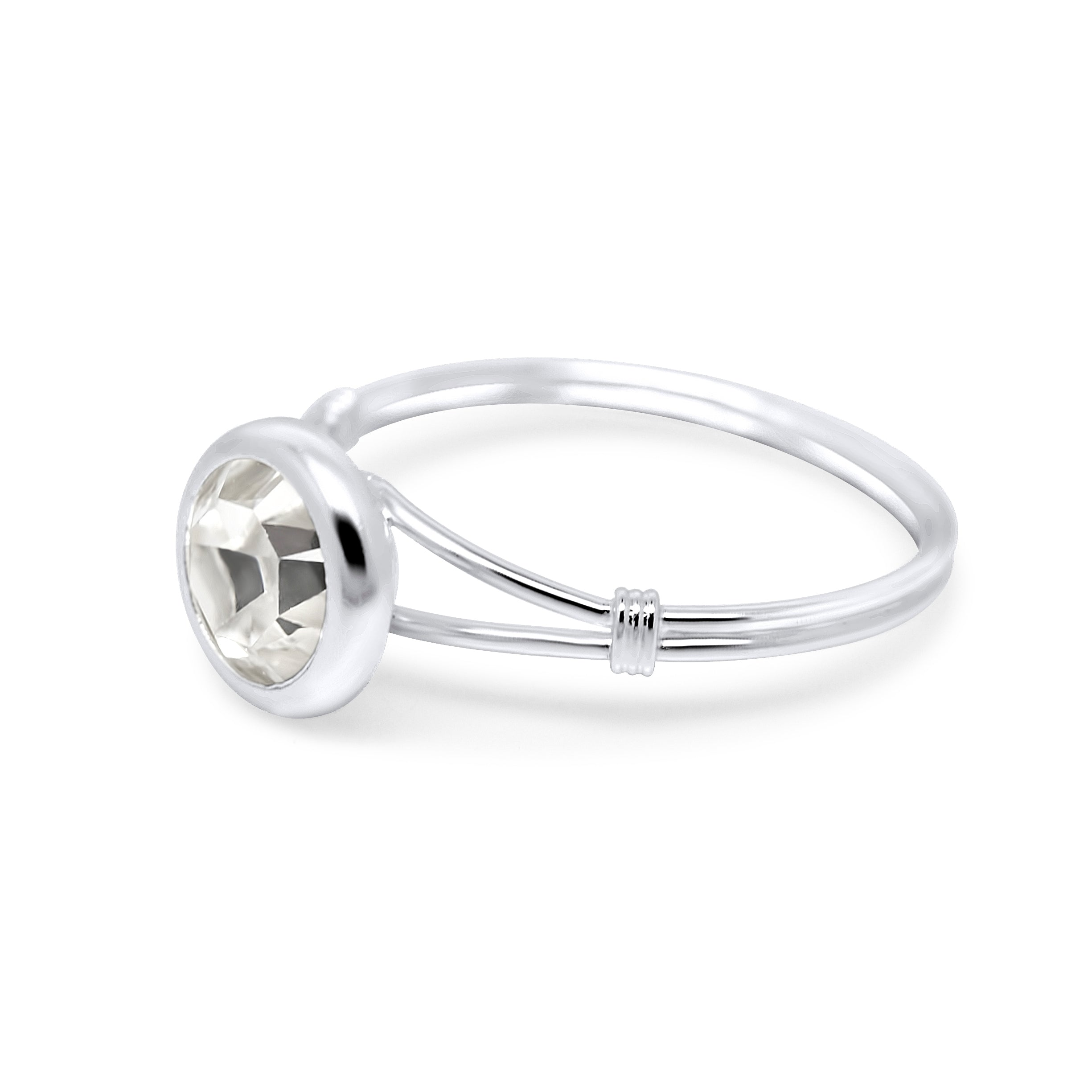 Eira Solitaire Sterling Silver Ring