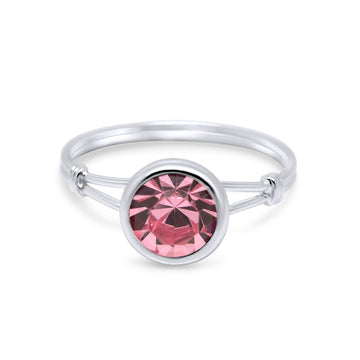 Ariellia Solitaire Sterling Silver Ring