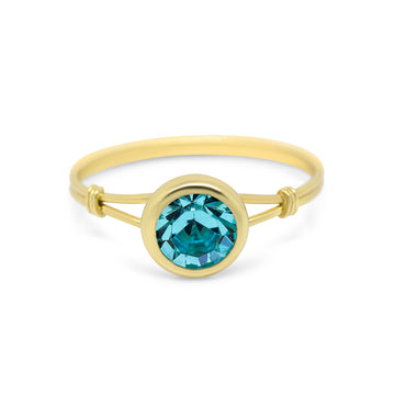 Bella Solitaire Sterling Silver / Gold Ring