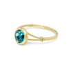 Bella Solitaire Sterling Silver & Gold Ring - Vamoon Jewellery