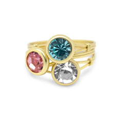 Apprielle Solitaire Sterling Silver / Gold Ring