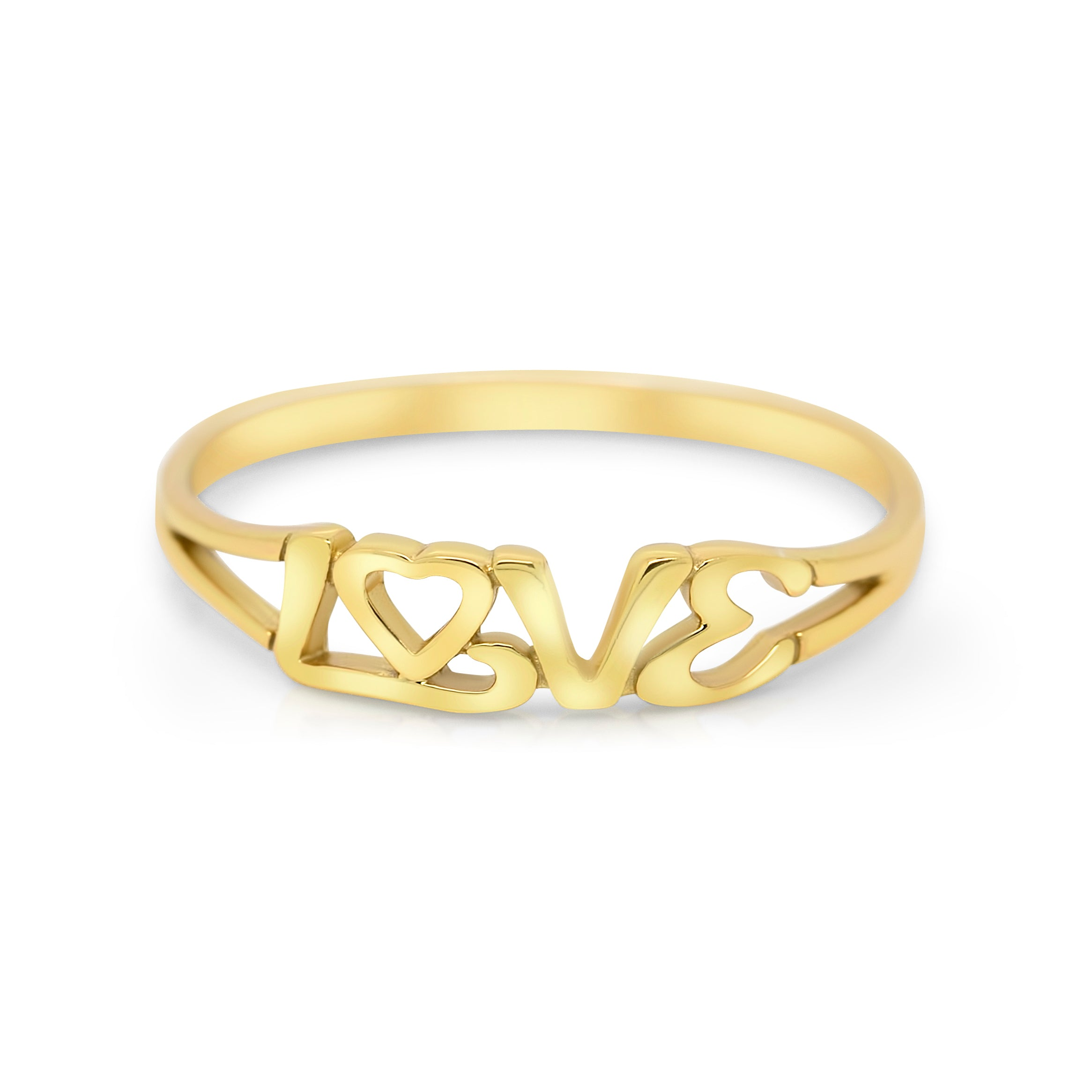 Love Letter Sterling Silver / Gold Plated Ring