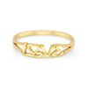 Love Letter Sterling Silver / Gold Plated Ring - Vamoon Jewellery