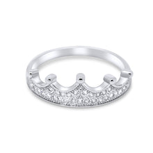 Eleanor 925 Sterling Silver & Cubic Zirconia Crown Ring